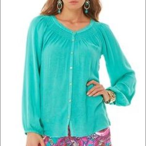 Lilly Pulitzer Maribel Top Seafoam Green
